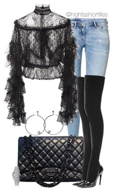 """""""Untitled #2719"""" by highfashionfiles on Polyvore featuring H&M, Chanel, Rodarte, Rolex and Balenciaga"""