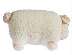 Knitting Sheep Toy Pillow Making - Knitting Models - Amigurumi Sewing Patterns, Crochet Patterns, Child Face, Cute Toys, Soft Pillows, Love Crochet, Crochet Animals, Free Pattern, Dinosaur Stuffed Animal