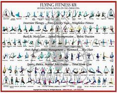 Aerial yoga chart