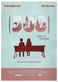 500 Days of Summer ~ Alternative Movie Poster by Maria Suarez Inclan Best Movie Posters, Minimal Movie Posters, Minimal Poster, Quote Posters, Poster On, Film Posters, Movie Collage, 500 Days Of Summer, Summer Poster
