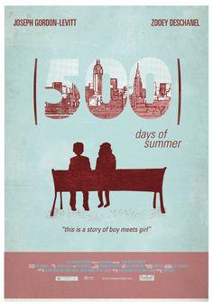 500 Days of Summer (2009) ~ Alternative Movie Poster by Maria Suarez Inclan #amusementphile