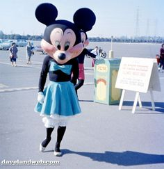 Creepy Minnie and Mickey Mouse in the Disneyland parking lot (1960). +1 for much improved costuming.
