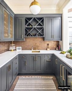 This wet bar features brass tile backsplash, custom brass sink, quartz top. Designer This wet bar features brass tile backsplash, custom brass sink, quartz top. Home Decor Kitchen, Kitchen Furniture, New Kitchen, Home Kitchens, Small Kitchens, Country Kitchens, Furniture Stores, 10x10 Kitchen, Furniture Buyers