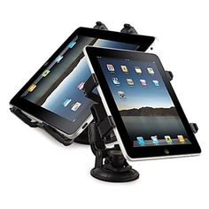 Multifunctional In-Car Windshield Swivel Holder + Car Seat Mounting Bracket For New iPad/iPad 2/Tablet