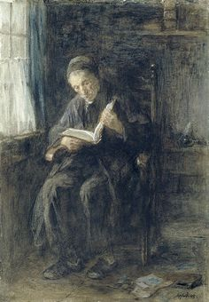 Jozef Israëls - The Rabbi brush on paper, 51.3 × 35.8 cm (20.2 × 14.1 in) Rijksmuseum Amsterdam, the Netherlands