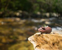 """Au bord de l'eau"" Little guinea pig necklace.  .  .  .  .  #guineapig #cochondinde #guineapigsofinstagram #cute #miniature #necklace #original #nature #meerschweinchen #photooftheday #happy #jewelry #river #agouti"