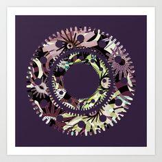 Pattern-7 Art Print by Pia Schneider [atelier COLOUR-VISION]