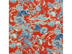 Brunschwig & Fils  BR-79086.143 - Brunschwig & Fils - Bethpage, NY, BR-79086.143,Brunschwig & Fils,Print,Blue,S,Up The Bolt,Asian, Animals,Multipurpose,Thailand,Yes,Brunschwig & Fils,No,