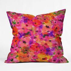 $45 Amy Sia Fleur Rouge Throw Pillow