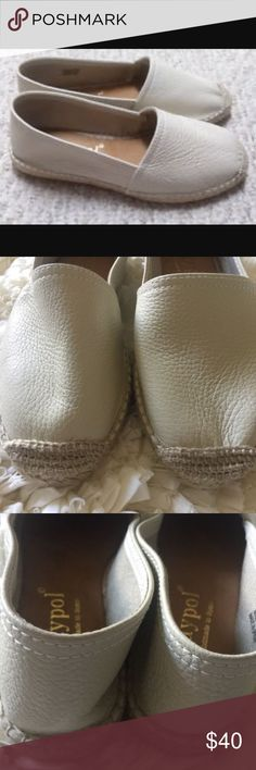 NWOT Maypol Anthropologie soft leather flats Brand new soft 100% handmade in Spain leather shoes from Anthropology. Rubber sole and jute lining on the side. Anthropologie Shoes Flats & Loafers