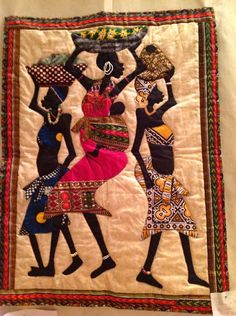 AFRICAN INFLUENCED QUILT..........PC.......Out of Africa quilt, London International Quilt Show