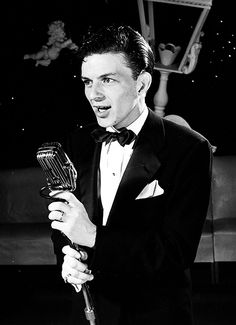 Frank Sinatra performs at the Riobamba nightclub, photographed by Herbert Gehr for Life magazine, 1943