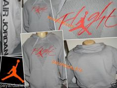 Men's Size Small Nike Jordan Flight City Hoodie Sweatshirt 532131 Gray Jumpman | eBay