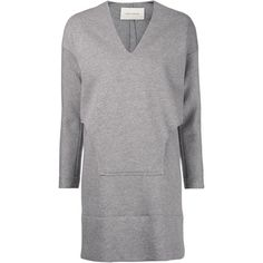 Cédric Charlier layered sweater dress (45,085 MKD) ❤ liked on Polyvore featuring dresses, grey, gray sweater dress, sweater dress, gray long sleeve dress, long sleeve dress and short sweater dress