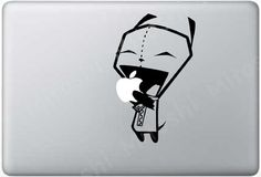 GREY Gir Eating Apple Macbook Decal by Mitoshi on Etsy, $8.00