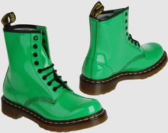 Green Combat Boots - Cr Boot