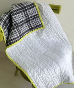 Modern Baby Quilt Modern Baby Blanket Cotton and by Sistaosass, $58.00