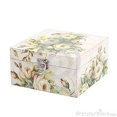 Floral Pattern Box Decorated With Decoupage Paper - Download From Over 37 Million High Quality Stock Photos, Images, Vectors. Sign up for FREE today. Image: 44045841
