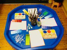 Nursery Activities, Art Activities, Tuff Spot, Foundation Stage, Tuff Tray, Expressive Art, Creative Activities, Creative Ideas, Eyfs