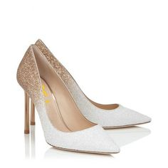 90cbd0ff68a Silver Closed Toe Wedges Glitter Round Toe Platform Pumps for Party ...