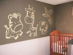 """Vinilo infantil """"Safari"""" #decoracion #teleadhesivo"""