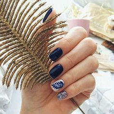 66 classy spring nails art design to inspire you suitable for every nail shape 14 Cute Spring Nails, Spring Nail Art, Navy Nails, Nagellack Trends, Gelish Nails, Trendy Nails, Nails Inspiration, Beauty Nails, Hair And Nails
