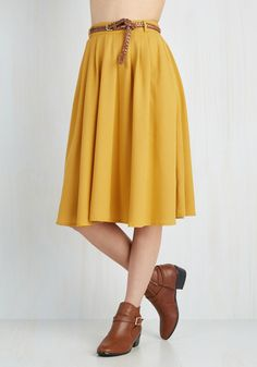 Breathtaking Tiger Lilies Midi Skirt in Mustard. This morning, a bundle of…
