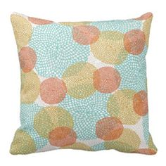 Custom design a pillow using a Pattern Pod pattern and Zazzle. You can choose between cotton and polyester with a number of different sizes.