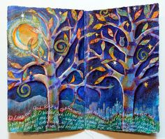 Love the composition of earth and sky, roots and branches. Fab painting highlights!!