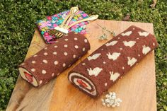 Dulce Delight: Heart patterned cake roll
