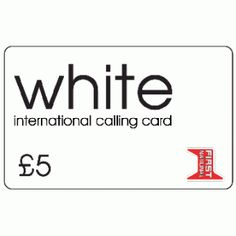 white 5 international calling card - Best International Calling Cards