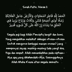 Surah Fatir, Verse 1