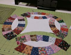 The @AccuQuilt STUDIO cutter and Double Wedding Ring die...Cut 600 pieces in less than an hour! CUT TIME. QUILT MORE. @ACCUQUILT