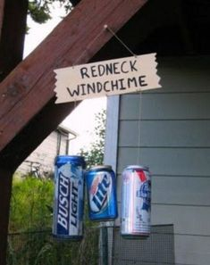 totally making this, but using all Pabst cans  a quote instead of redneck windchime