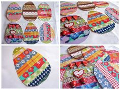 Patchwork easter eggs tutorial ostern eier basteln stoffreste kinder