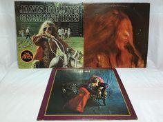 Janis Joplin Vinyl Record Lot of 3 - Greatest Hits Kozmic Blues Peral - Album LP