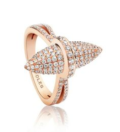 Velocity Rose Gold Pave Diamond Ring