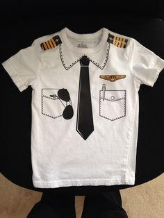 Airplane/Aviation Birthday Party iron on vinyl T custom made and so easy!