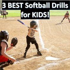 Softball Drills for Kids Softball Pitching Drills, Softball Memes, Softball Workouts, Soccer Drills For Kids, Basketball Tricks, Softball Coach, Fastpitch Softball, Softball Players, Softball Stuff