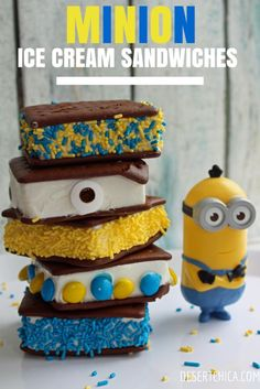 These fun minion ice cream sandwiches are easy to make for your next Despicable Me party or Minions movie watching night! Despicable Me Party, Minion Movie, Funny Minion, Minion Party Food, Minion Treats, Funny Jokes, Minion Theme, Minion Stuff, Evil Minions