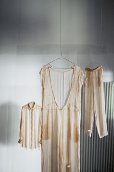 Exploring the unconventional beauty of freckles, fashion designer Stefanie Biggel and graphic designer Natalja Romine presented The Human Print; delicate, handmade dresses printed with a freckled pattern - a skin to wear over your skin, if you will...