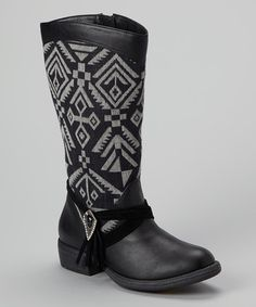 pretty nice 590ce f82c8 These are precious boots, and cheap! Black   Gray Penny Boot by Yellow Box  Shoes