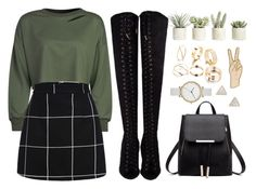 """""""Untitled #135"""" by finderskeeper on Polyvore featuring WithChic, Allstate Floral, Lucky Brand, Skagen and Adina Reyter"""