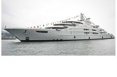 Serene  Length: 440 feet   Top speed: N/A   Total power: N/A     Built by Fincantieri Yachts and designed by Monaco's Espen Oeino designers, the Serene launched in 2010. Construction began in 2007, and when it was completed, it was the largest yacht ever built in Italy.