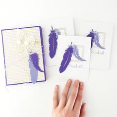 Glück ist… drei Karten in einer Box als Geschenkidee   #diecutting #papierprojekt #giftidea #geschenkidee #cardmaking