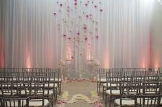 Indoor Wedding Ceremony Backdrop | 40 Creative Indoor Wedding Ceremony Backdrops » Photo 28