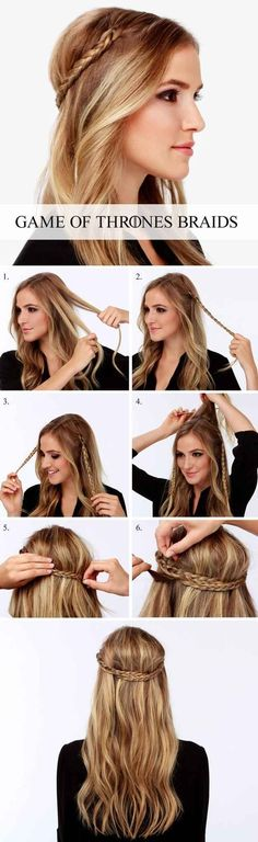 Pretty Braided Crown Hairstyle Tutorials and Ideas / http://www.himisspuff.com/easy-diy-braided-hairstyles-tutorials/24/