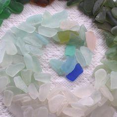 163 Natural Sea Glass Sticks Shards Imperfections Art Mosaic