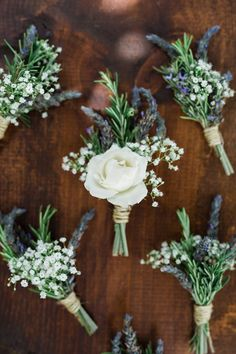 groomsmen boutonnieres - photo by Casto Photography and Cinema - http://ruffledblog.com/eco-friendly-hawaiian-beach-wedding