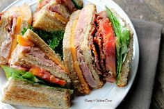 Bunny's Warm Oven: Ham and Cheese Club Sandwich (How to make a Club)
